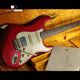 "TMG Guitar Co. Dover HSS ""Candy Apple Red""  Midium Aged & Checking"