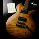 "【SOLD】dragonfly MAROON LH 648  Flame Maple top  ""Half Matte Honey Burst"""