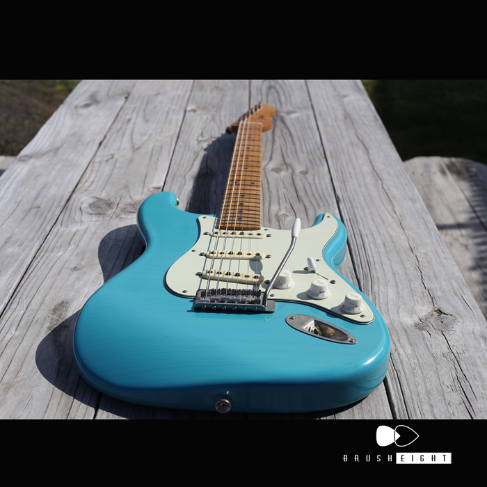 "【Coming Soon!!】TMG Guitar Co. Dover HSS 22F ""Toas Turquoise Blue ""Soft Aged & MidiumChecking"