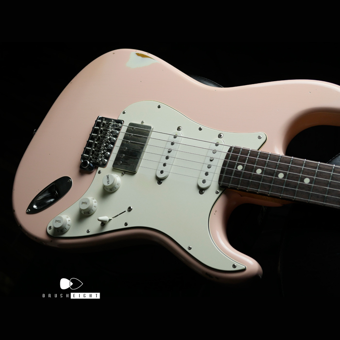 "【SOLD】Black Cloud Giuitar  Aging Label Sigma SSH  ""Shell Pink """