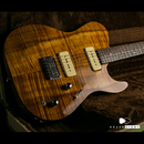 "【SOLD】Melancon Guitars P-90 Artist ""Natural"" Flame Koa & Brazilian Rosewood 2007's"
