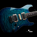 "【SOLD】T's Guitars DST Pro 22 Cusom  Quilted Maple ""Trans Blue Burst"""